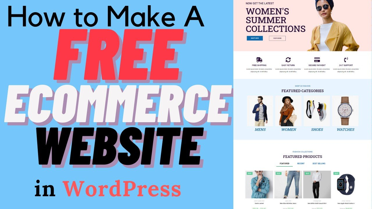 How to Create a FREE eCommerce Website with WordPress — ONLINE STORE 2021 (Easy for Beginners)